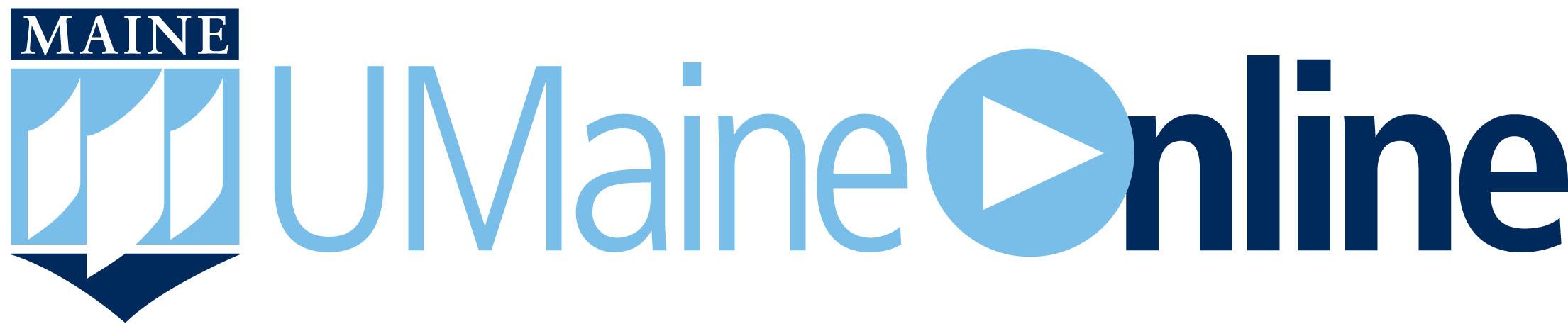 UMaineOnline horizontal logo