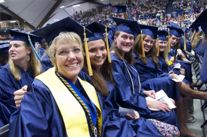 group of ladies at commencement