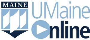 UMaineOnline vertical logo