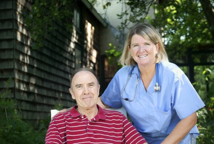 nurse with older gentleman