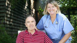 nurse with older gentleman