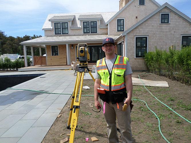 photo of Tim Lydon surveying