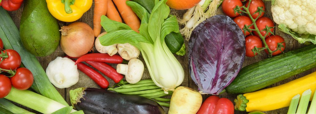 group of fesh vegetables from market